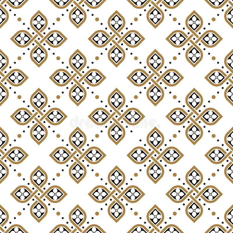 Papel de parede geométrico floral sem emenda do teste padrão ilustração do vetor