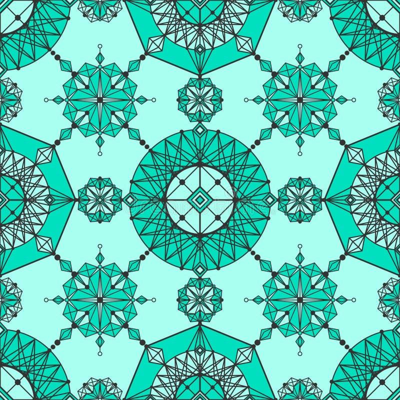 Papel de parede geométrico linear ilustração royalty free