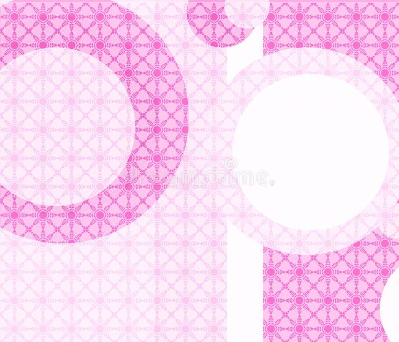 Papel de parede geométrico retro cor-de-rosa ilustração stock