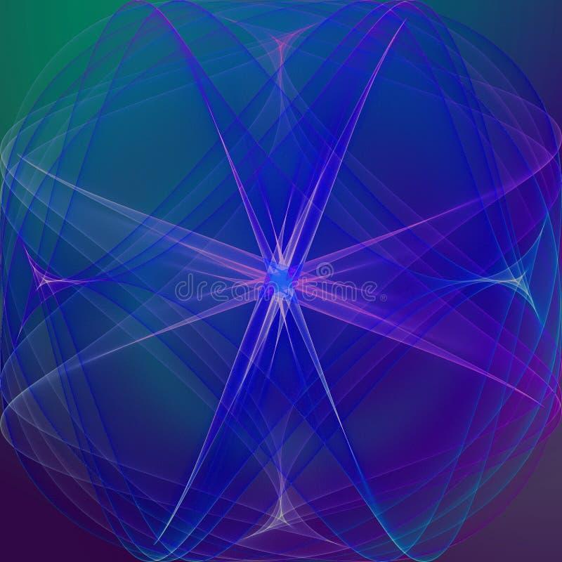 Papel de parede gráfico do sumário da arte Mystical ilustração do vetor