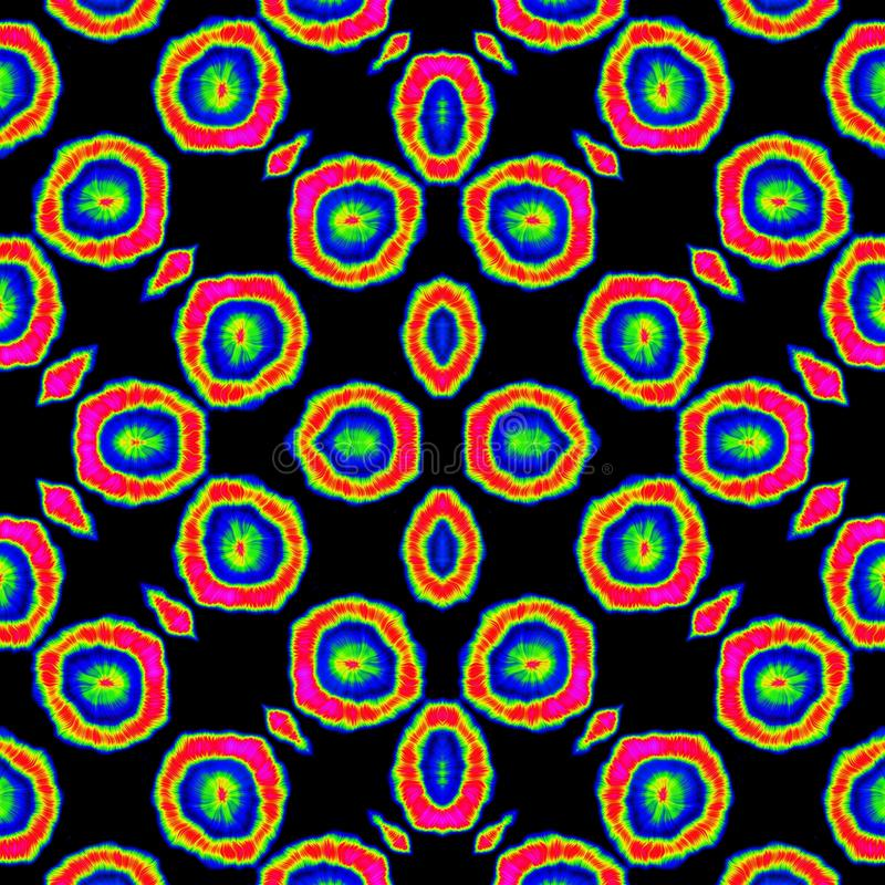 Papel de parede irregular colorido sem emenda do teste padrão do projeto das bolas ilustração royalty free