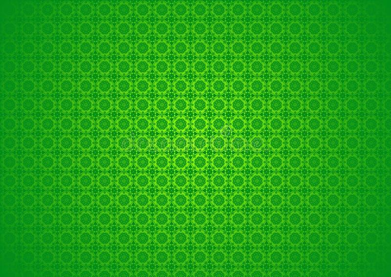Papel de parede islâmico árabe chinês decorativo oriental do fundo de Imlek Ramadan Festival Green Pattern Texture do vintage flo foto de stock royalty free