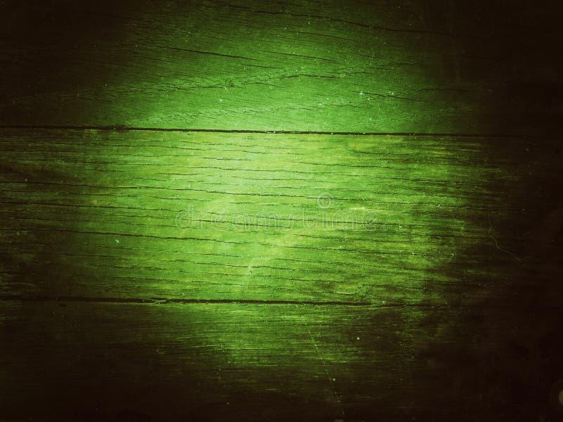 Papel de parede de madeira escuro verde da tabela imagem de stock