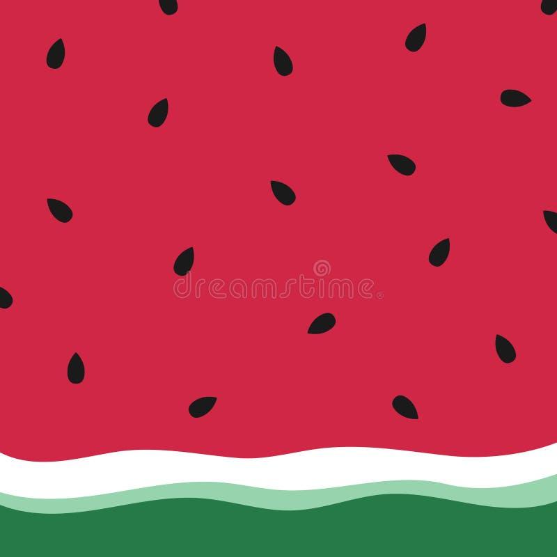 Papel de parede minimalista da melancia do verão ilustração royalty free
