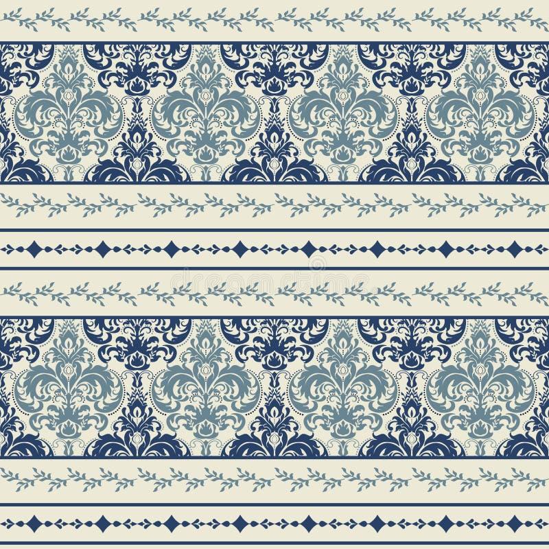 Papel de parede no estilo clássico Teste padrão sem emenda do laço Fundo do vintage Ilustração do vetor ilustração royalty free