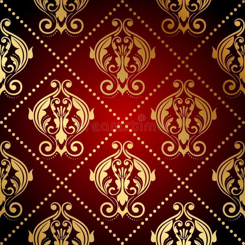 Papel de parede ornamentado ilustração royalty free
