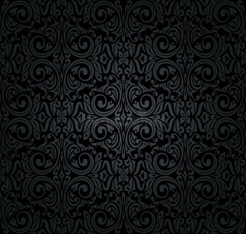 papel de parede preto do vintage ilustração do vetor - ilustração de