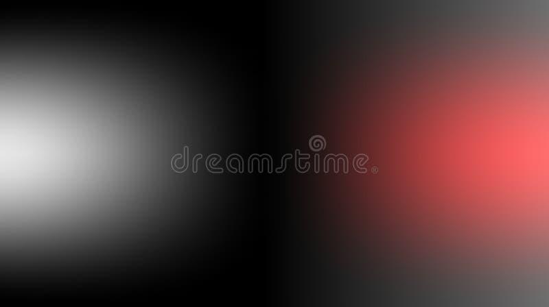 Papel de parede protegido borrado branco preto do fundo das cores vermelhas Ilustração vívida do vetor ilustração stock