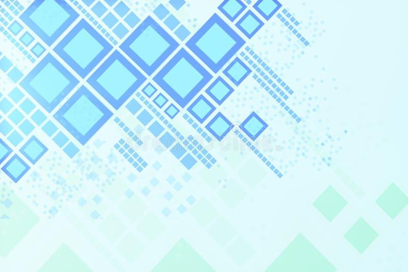 Papel de parede quadrado azul ilustração royalty free