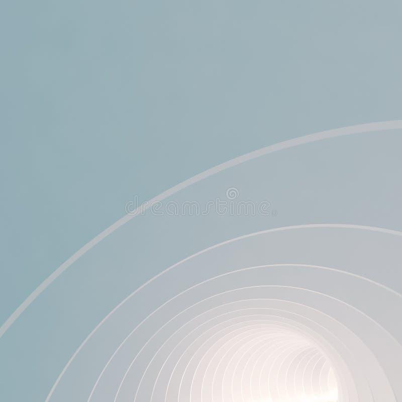 Papel de parede quadrado azul abstrato 3d mínimo ilustração stock