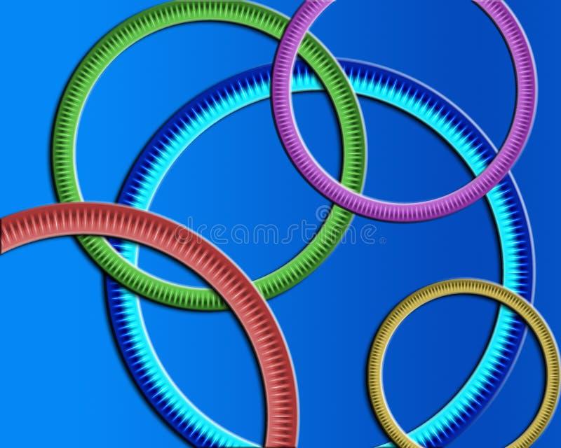 Papel de parede redondo dos anéis ilustração do vetor