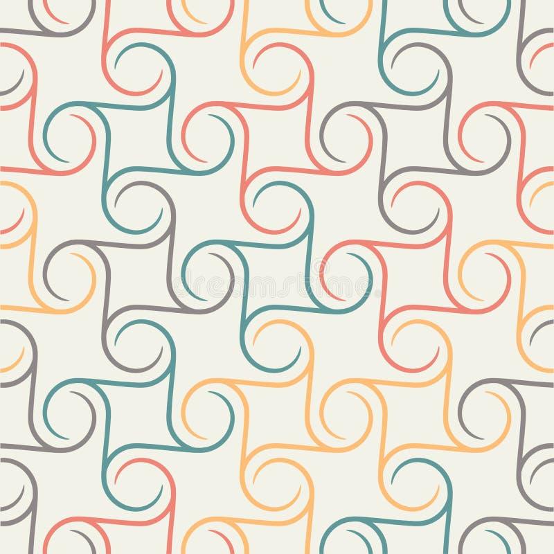 Papel de parede repetitivo retro - teste padrão do vintage - esférico - ilustração do vetor ilustração do vetor