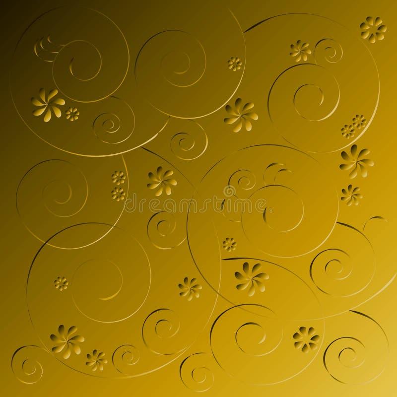 Papel de parede retro ilustração royalty free