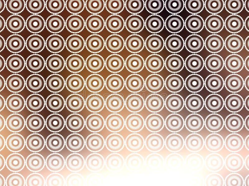 Papel de parede retro branco de Brown ilustração stock