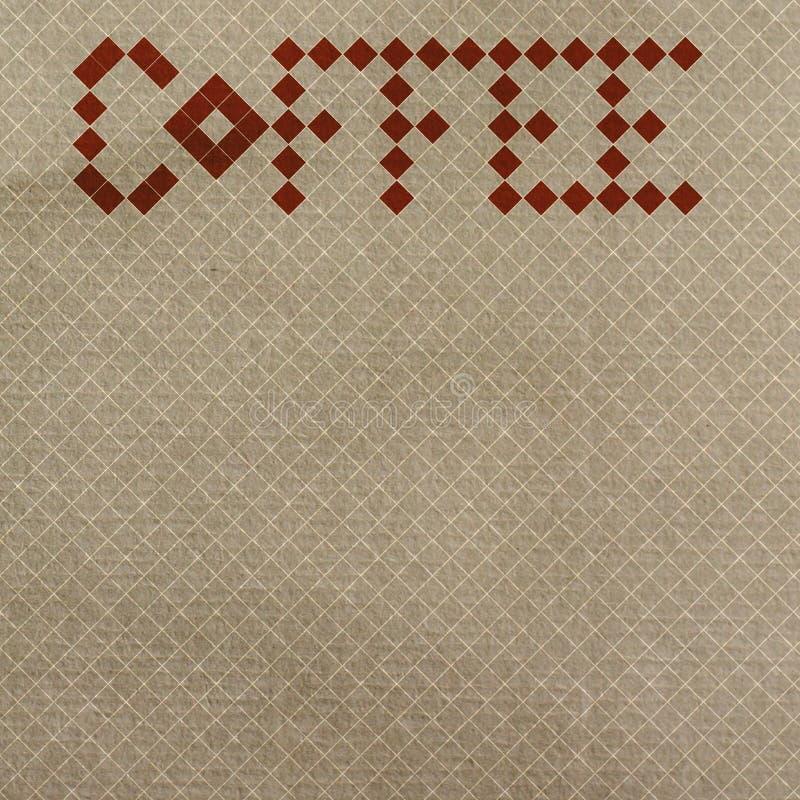 Papel de parede retro do café fotos de stock