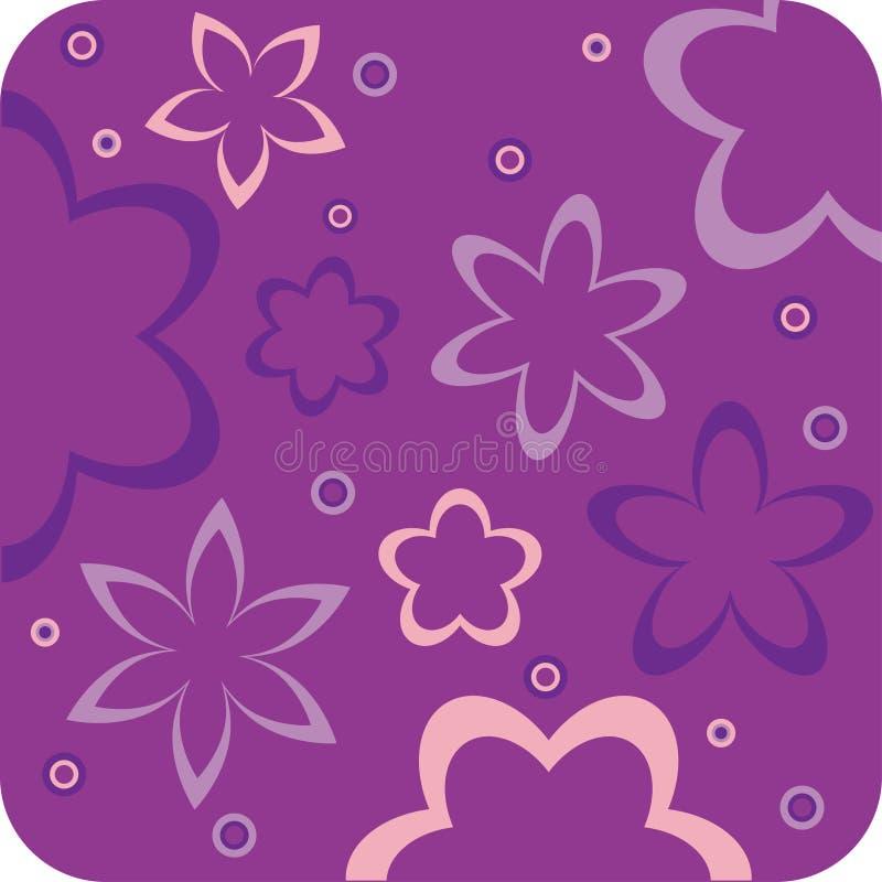 Papel de parede retro floral roxo ilustração do vetor