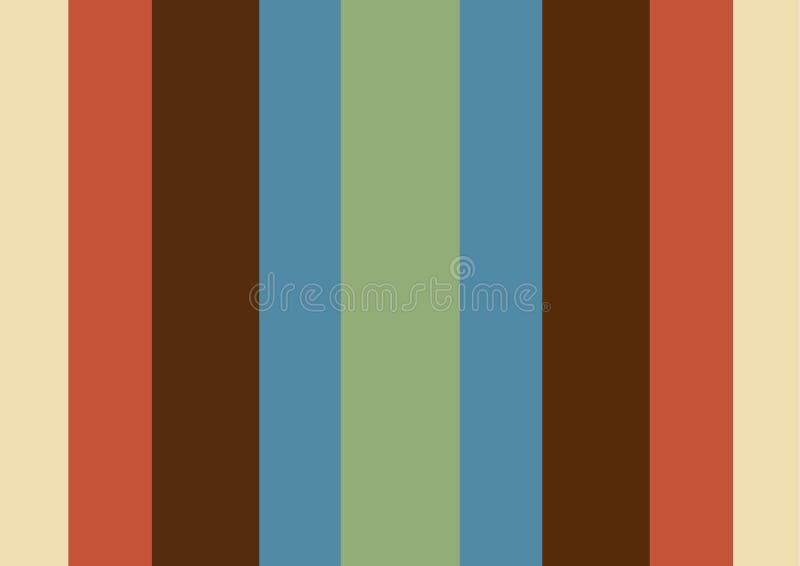 Papel de parede retro vertical colorido das listras da simplicidade ilustração stock