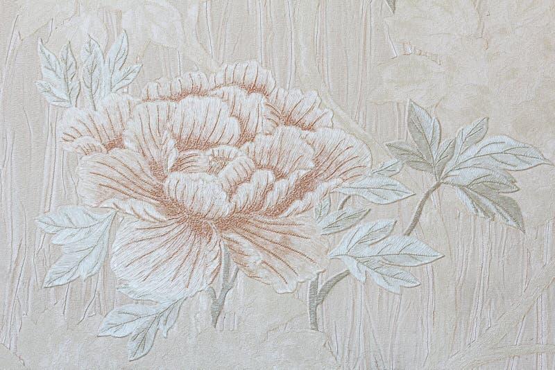 Papel de parede romântico floral de Rosa fotos de stock royalty free