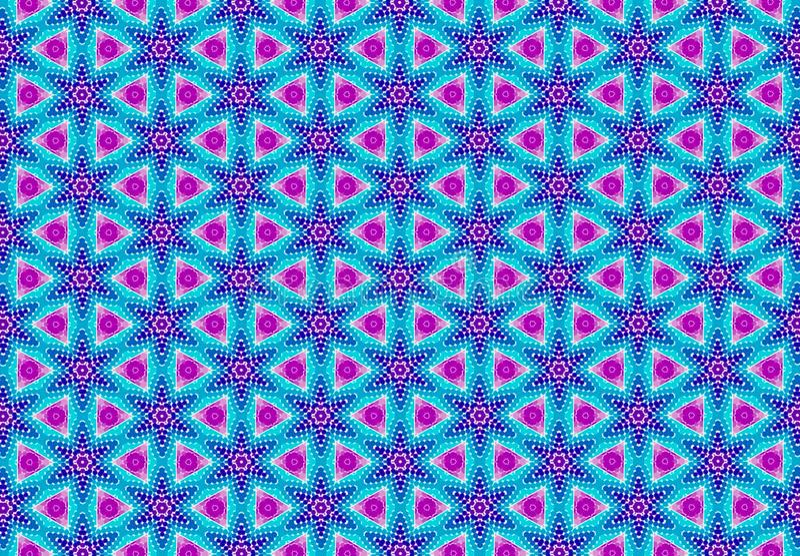Papel de parede roxo azul cor-de-rosa do teste padrão do geomatics imagem de stock royalty free