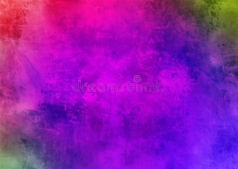 Papel de parede roxo escuro do fundo de Smokey Abstract Pattern Texture Beautiful da poeira de Violet Mystic Old Distorted Grunge fotos de stock royalty free
