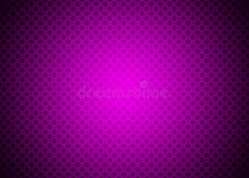 Papel de parede roxo escuro de Violet Techno Ornamental Pattern Background ilustração do vetor