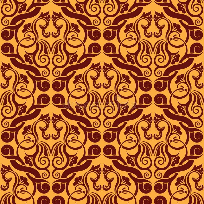 Download Papel De Parede Sem Emenda Alaranjado Ilustração do Vetor - Ilustração de cortinas, retro: 12809269