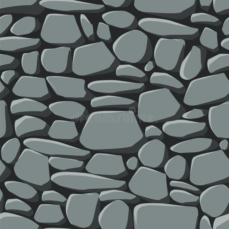 Papel de parede sem emenda das pedras fotografia de stock
