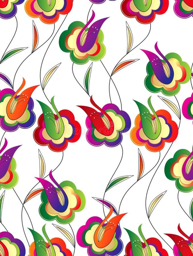 Papel de parede sem emenda de flores bonitos ilustração do vetor