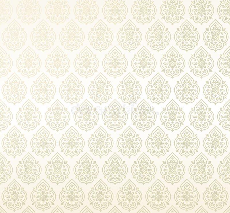 Papel de parede sem emenda do damasco ilustração royalty free