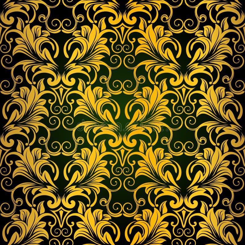 Papel de parede sem emenda do ouro foto de stock royalty free