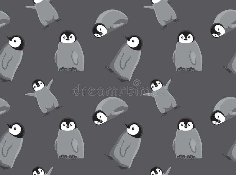 Papel de parede sem emenda do pinguim do bebê ilustração royalty free
