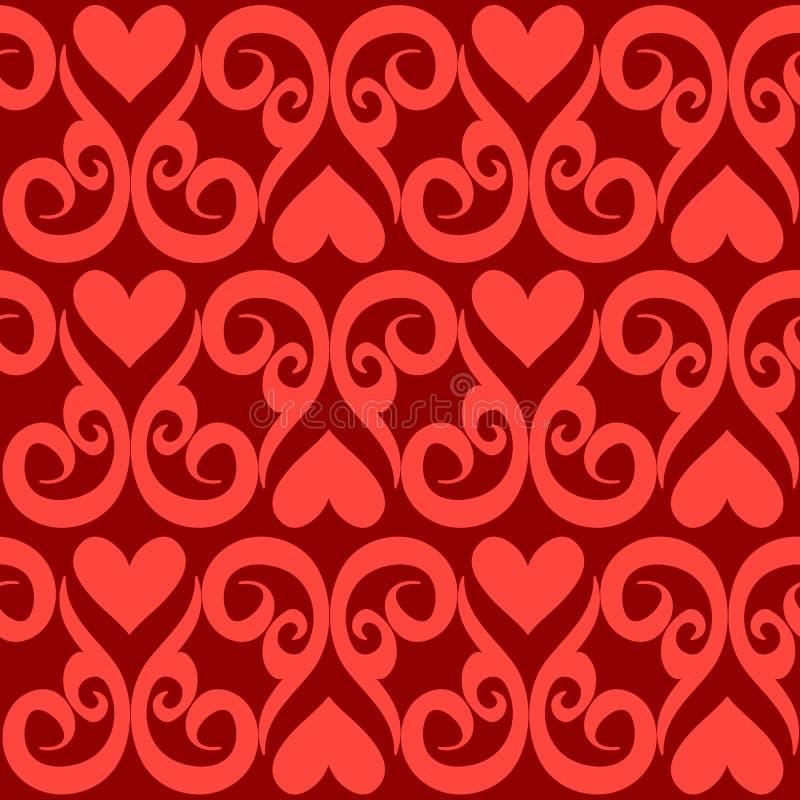 Papel de parede sem emenda do Valentim ilustração do vetor