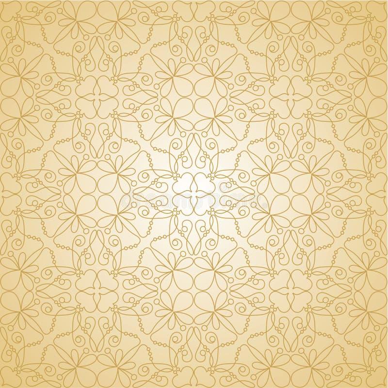 Papel de parede sem emenda floral ilustração do vetor