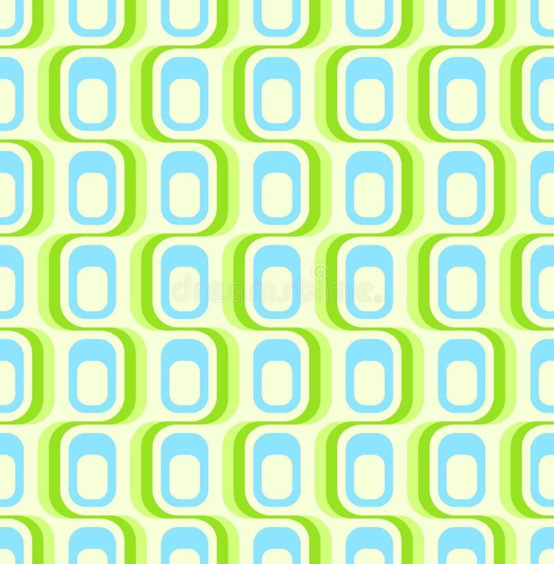 Papel de parede sem emenda verde retro ilustração stock