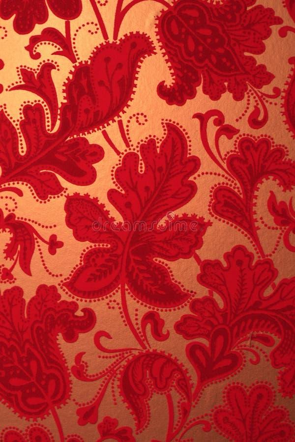 papel de parede textured de veludo vermelho retro do vintage fotografia de stock
