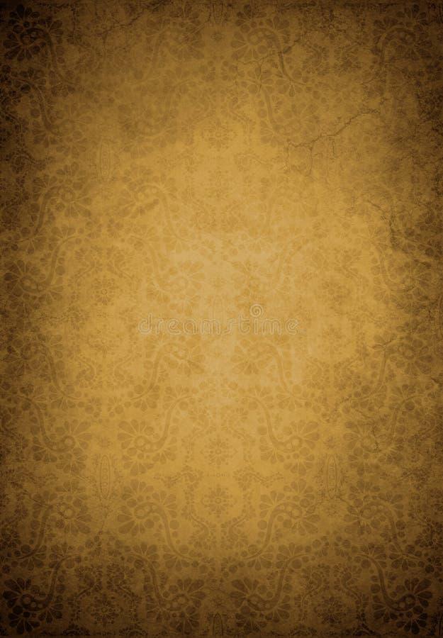 Papel de parede velho de Grunge ilustração royalty free