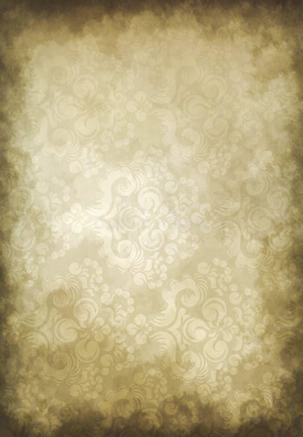 Papel de parede velho de Grunge ilustração stock