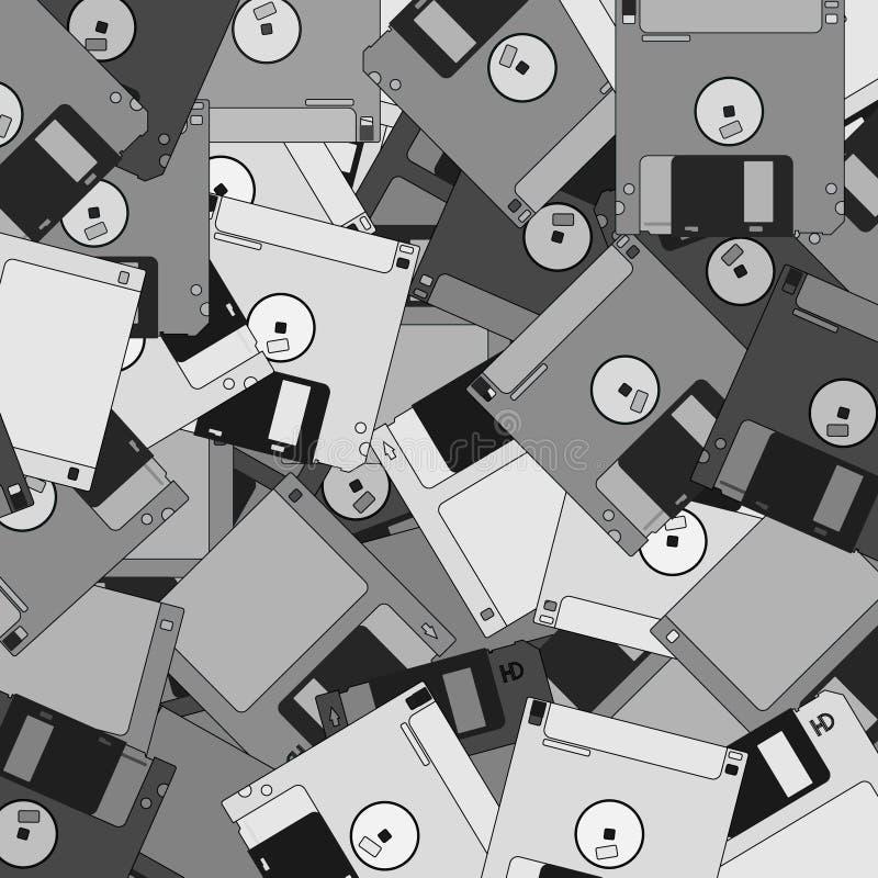 Papel de parede velho dos discos da tecnologia ilustração royalty free