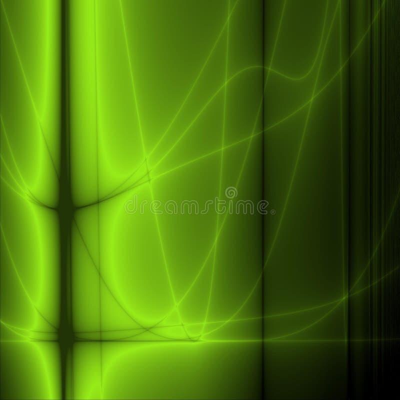 Papel de parede verde ilustração do vetor