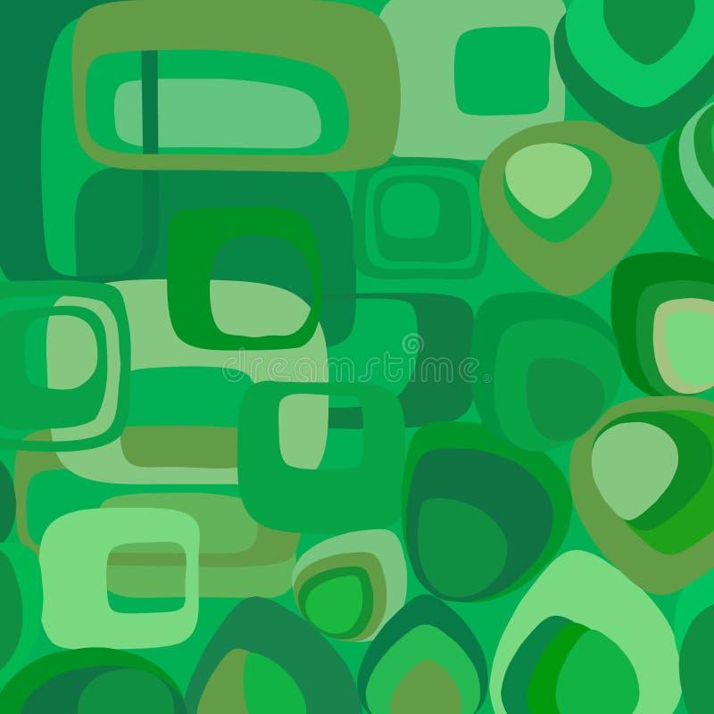 Papel de parede verde no estilo retro ilustração stock