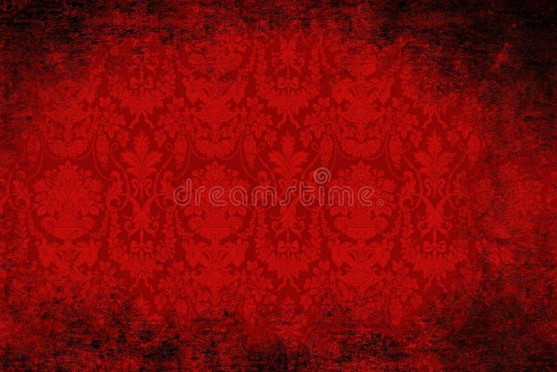 Papel de parede vermelho de veludo ilustração royalty free
