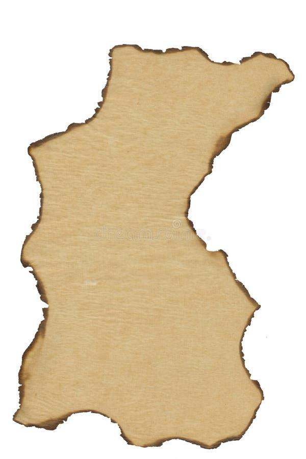 Papel de pergaminho antigo: Queimadura de Grunge imagens de stock royalty free