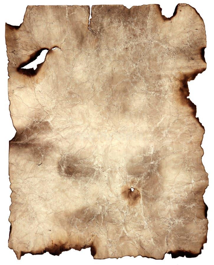 Papel de pergaminho queimado imagem de stock