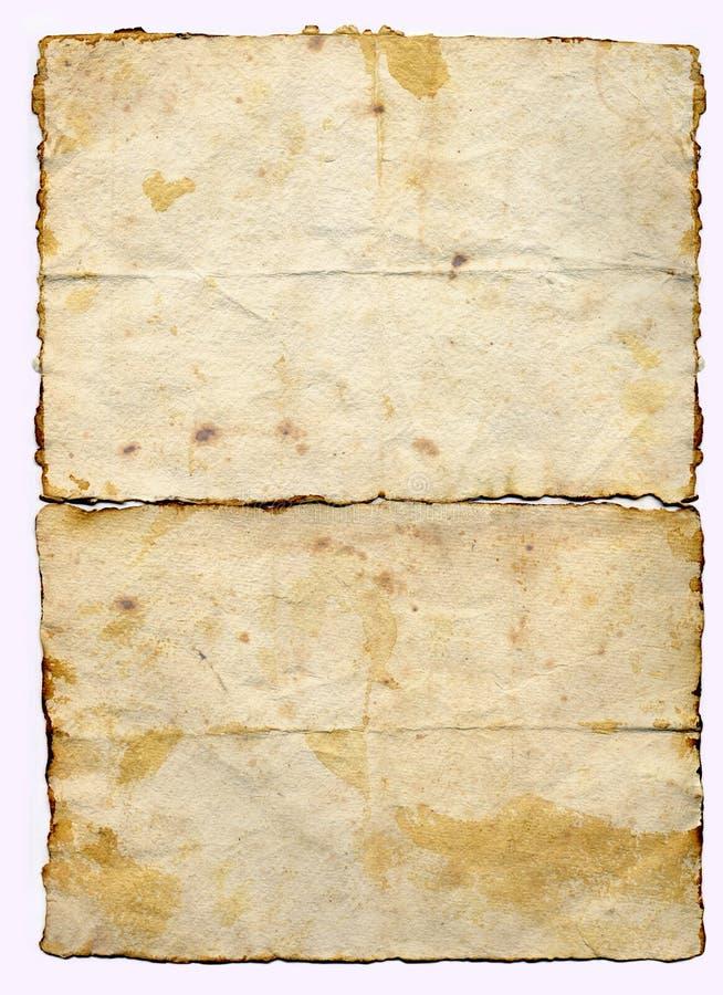Papel de pergamino viejo foto de archivo libre de regalías