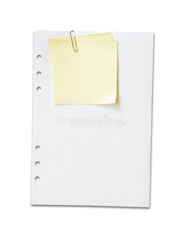 Papel de pista de nota foto de archivo libre de regalías
