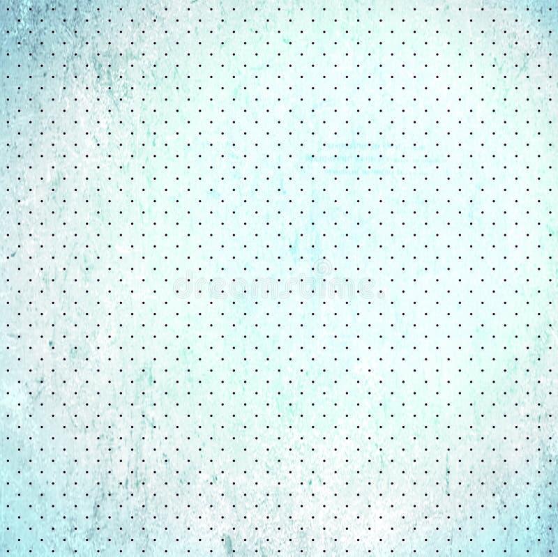 Papel de punto de polca del desecho de la vendimia stock de ilustración