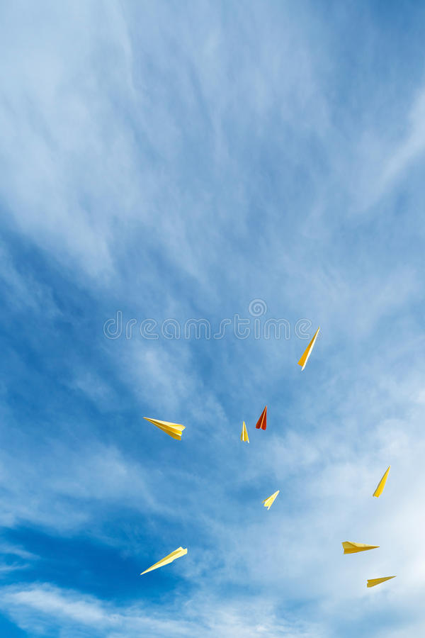 Papel de Rocket imagem de stock