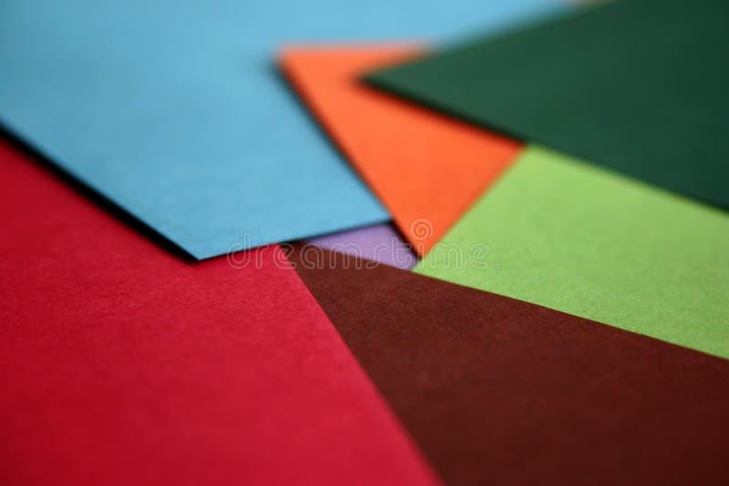 Papel del color fotografía de archivo libre de regalías