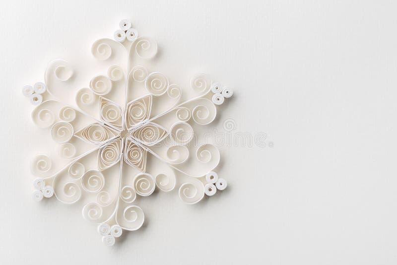 Papel del copo de nieve de la Navidad imagen de archivo libre de regalías