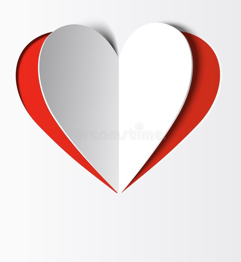Papel del corazón stock de ilustración